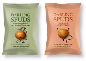 Snack Packaging Samples - Darling Spuds Chips