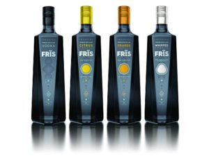 Fris Vodka Bottle Packaging Design