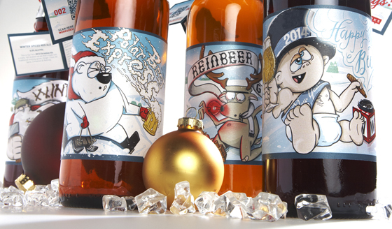 Works Design's 2013 holiday craft beer packaging
