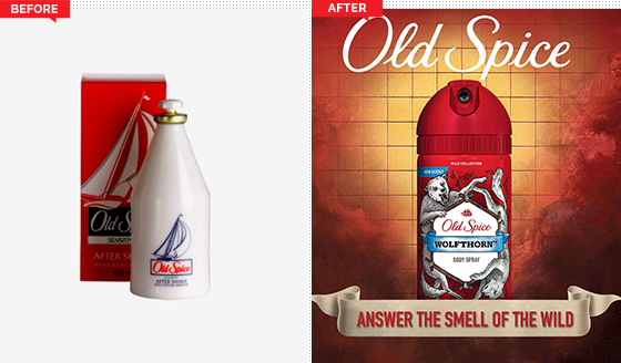 Old Spice Rebrand - Before and After
