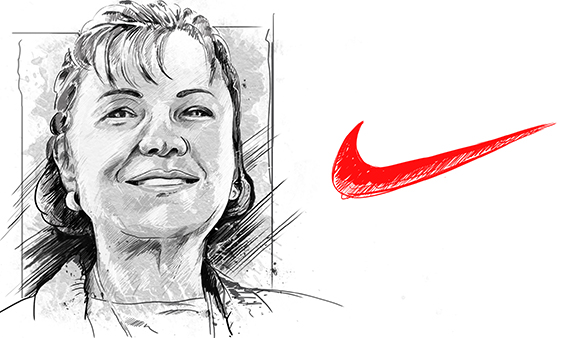 Carolyn Davidson and the Nike Logo Design