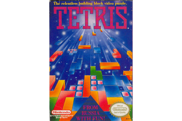 Tetris Video Game Packaging