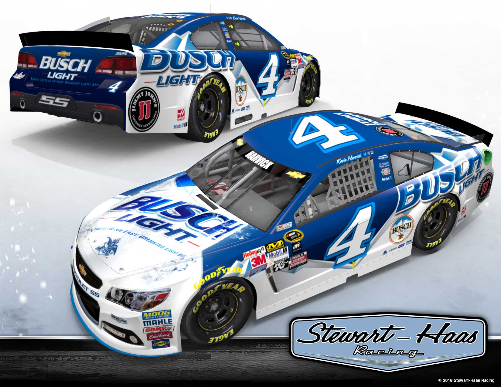 Busch Light No. 4 Car